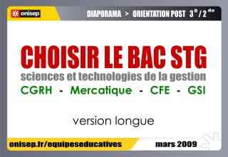 onisep.fr/equipeseducatives                    mars 2009