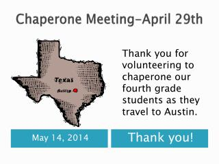 Chaperone Meeting-April 29th