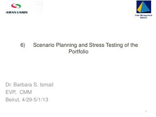 Scenario Planning and Stress  Testing  of the Portfolio
