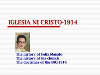 IGLESIA NI CRISTO-1914