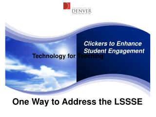 One Way to Address the LSSSE