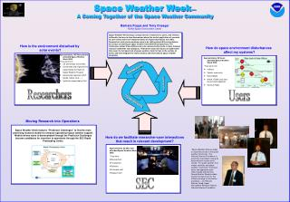 Space Weather Week — A Coming Together of the Space Weather Community