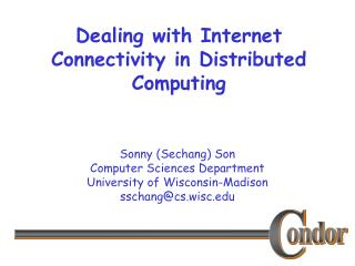 Dealing with Internet Connectivity in Distributed Computing
