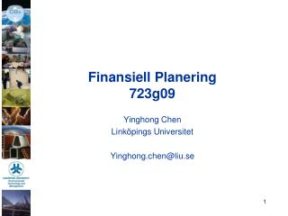 Finansiell Planering 723g09