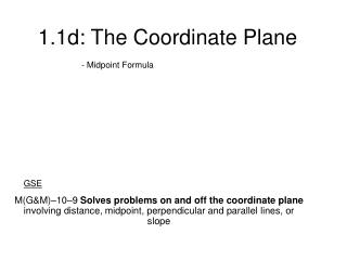 1.1d: The Coordinate Plane