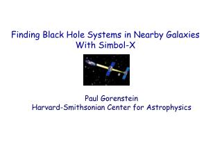 Finding Black Hole Systems in Nearby Galaxies With Simbol-X