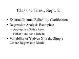 Class 4: Tues., Sept. 21