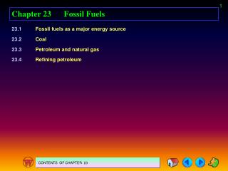 Chapter 23	Fossil Fuels