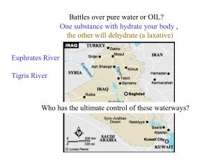 Battles over pure water or OIL?