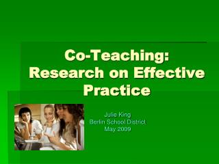 Co-Teaching: Research on Effective Practice