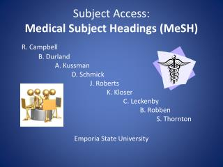 Subject Access: Medical Subject Headings (MeSH)