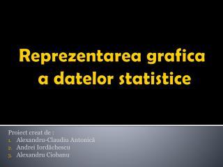 Reprezentarea grafica  a datelor statistice