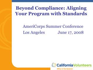 Beyond Compliance: Aligning Your Program with Standards