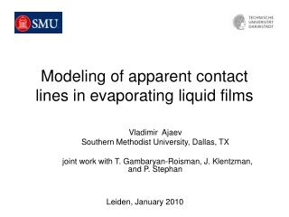Modeling of apparent contact lines in evaporating liquid films