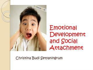 Emotional Development and Social Attachment