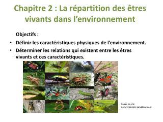 Chapitre  2: La répartition des êtres vivants dans l'environnement