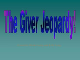 The Giver Jeopardy!