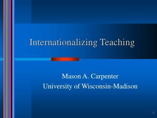 Internationalizing Teaching