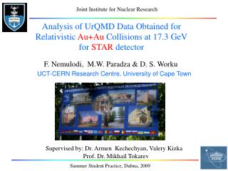 Analysis of UrQMD Data Obtained for Relativistic  Au+Au  Collisions at 17.3 GeV