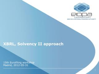 XBRL, Solvency II approach