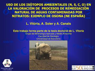 Mineralogia Aplicada  i Medi Ambient