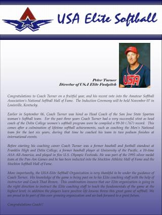 Peter Turner Director of USA Elite Fastpitch