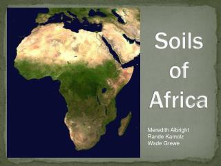 Soils of Africa