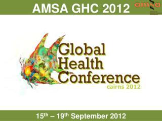 AMSA GHC 2012