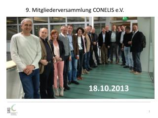 9. Mitgliederversammlung CONELIS e.V.