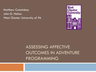 Assessing affective outcomes in  ADVENTURE PROGRAMMING
