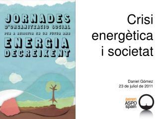 Crisi energètica i societat