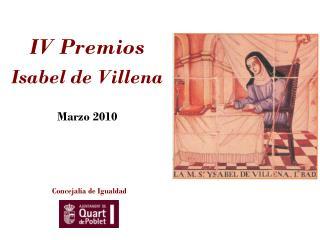IV Premios  Isabel de Villena