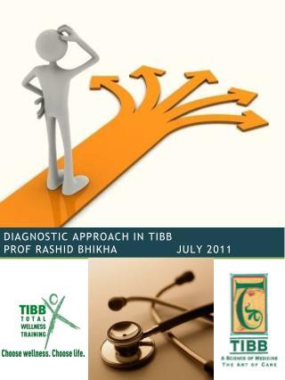 DIAGNOSTIC APPROACH IN TIBB prof Rashid Bhikha               JULY 2011