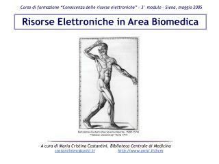 Corso di formazione  Conoscenza delle risorse elettroniche    3  modulo - Siena, maggio 2005