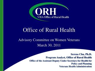 Office of Rural Health