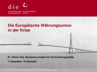 Die Europäische Währungsunion  in der Krise