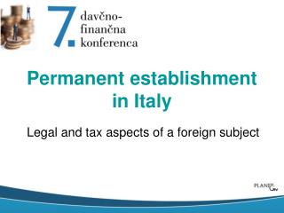 Permanent establishment in Italy