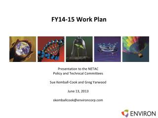 FY14-15 Work Plan