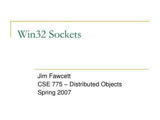 Win32 Sockets
