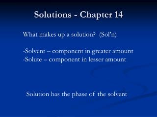 Solutions - Chapter 14