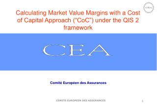 "Calculating Market Value Margins with a Cost of Capital Approach (""CoC"") under the QIS 2 framework"