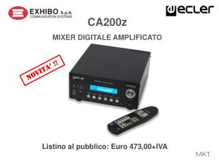 CA200z MIXER  DIGITALE AMPLIFICATO