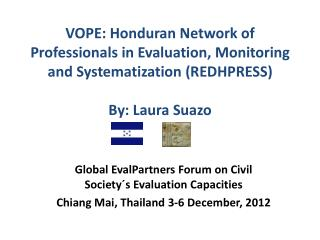 Global  EvalPartners  Forum on Civil Society´s Evaluation Capacities