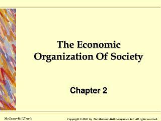 The Economic Organization Of Society