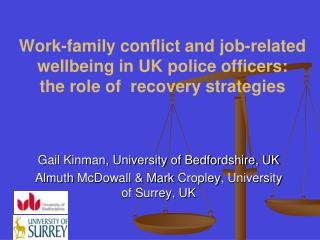 Gail Kinman, University of Bedfordshire, UK