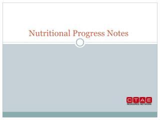 Nutritional Progress Notes