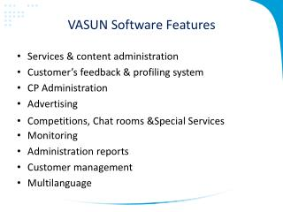 VASUN Software Features