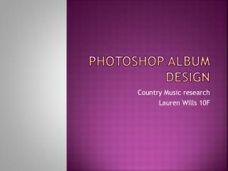 Photoshop Album Design