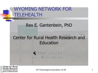 WYOMING NETWORK FOR TELEHEALTH