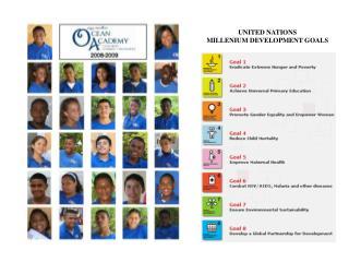 UNITED NATIONS  MILLENIUM DEVELOPMENT GOALS